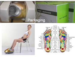 Air Pressure Health Care and Beautician Rolling Foot Massager