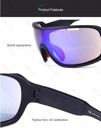 Polarized Sports Sunglasses with 5 Interchangeable Lenses for Men Riding