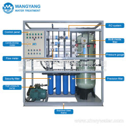China Water Purifier 830L/H RO Desalination Salt Water Treatment Systems Prices with CIP System