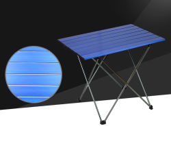 Outdoor Foldable Aluminum Table Surface Camping Table for Fishing (MW12024)