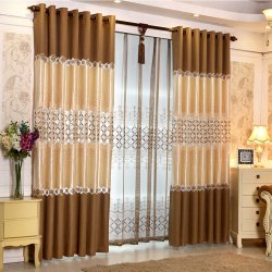 European Style Living Room Embroidery Blackout Window Curtain 19F0050