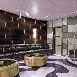 2017 New Design 4D Cool Home Decoration PVC Waterproof Modern 3D Wallpaper