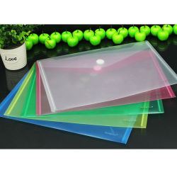 A4 Transparent File Folder Bags with Printed Logo for Promotion