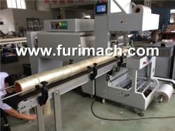 Furi Automatical BOPP Tape Shrink Packing Machine, Tube Type, Tower Type Packing Machine, Auto Adhesive Tape Wraping Machine