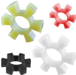 Molded Plastic Silicone Rubber Grip Nut Gear