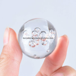 Wholesale K9 Crystal Glass with Bubble Ball for Decoration