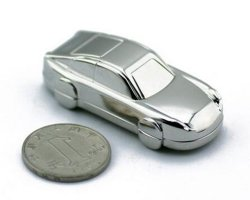 Cool Metal Car USB Flash Memory Stick with 128MB-128GB