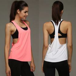 980d391a8 Hot Sale Wholesale Hollow Back Sexy Yoga Tops for Women Loose Tank Top Shirt  Gym Workout