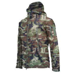 Manufacturer Supply From China Wholesale Men Warm Army Military Tactical Sport Fleece Hoodie Combat Shark Skin Soft Shell Jacket