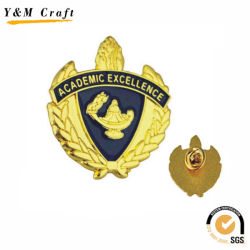 Zinc Alloy Customized Metal Gold Lapel Pin with Embossed Logo