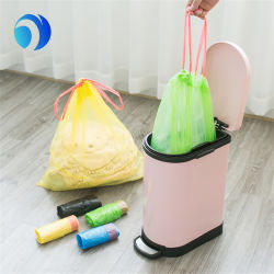 Custom Printing Logo Color Compostable Trash HDPE LDPE PLA PBAT Corn Starch Plastic Medical Household Tall Kitchen Biodegradable with Drawstring Garbage Bag
