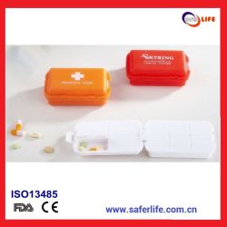 2015 Wholesale Health Promotion of Cheap Drug Dosing Colored Mini Detachable Multifunctional Folding Pill Box Case Kit Indispen