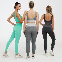 New Style Seamless Leggings Sports Bra High Waist Gym Wear Women Track Suit Fitness Seamless Yoga Set