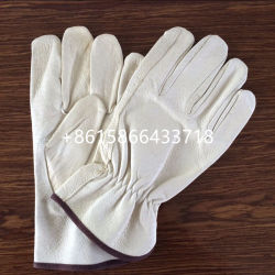 Natural Color Sheepskin Leather Gloves with Lining