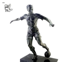 Large Size Basketball Player Bronze Sports Sculpture Garden Decoration Bsg-118