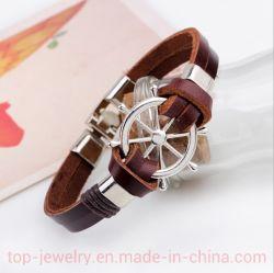 Ship Rudder Bracelet Top Leather Bracelet with Cowhide Rope