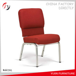 Stackable Wholesale Metal Durable Linked Steel Church Chair (JC 01)