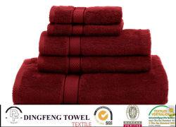 100% Cotton Yarn Dyed Bath Towel Sets with Satinborder