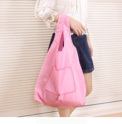 Invironmental Cotton 420d Oxford Foldable Shopping Bag Can Take More Than 20kg