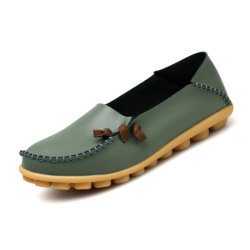 Good Price Fashion Women Dress Shoes Casual Leather Shoes with Customized (DD19807-2)