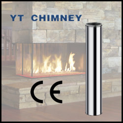 6'' (150mm) Twin Wall Stainless Steel Insulated Chimney Pipes for Wood Burning Stoves