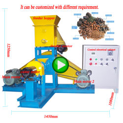 Price Poultry Floating Fish Shrimp Pet Food Feed Pellet Machine