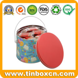 Chocolate Biscuit Metal Tin Pail for Birthday Cookies Storage Boxes