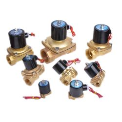 Direct Acting 2/2 Way Brass Industrial Water Air Oil Solenoid Valve