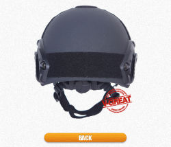 Nij Certified Black Fast Helmet with Ce Certificate