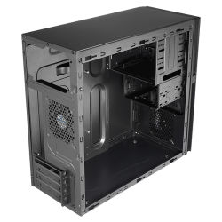 Computer Micro ATX Case, with Alum brush Style Front Panel