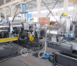 Two Stage Extruder Agricultural HDPE LDPE LLDPE Film Granulation Machine