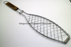 Metal Fish BBQ Grill / Wire Barbecue Grill Fish Grid