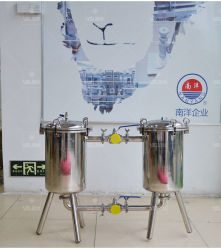 2t Stainless Steel Water Duplex Filter for Juice/Beverage