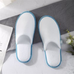 Wholesale Disposable EVA White Terry Towel EVA Sole SPA Airline Hotel Slipper