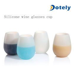 Unbreakable Stemless Silicone Wine Glasses Foldable Beer Mug Outdoor Cup
