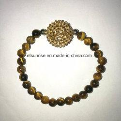 Semi Precious Stone Tiger Eye Howlite Beaded Bracelet