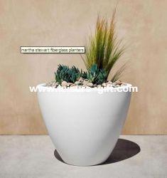 Fo-272 Oval White Decor Glossy Fiberglass Flower Vases