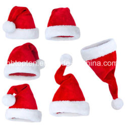 Santa Claus Christmas Hat Red&White Hats Holiday Costume Caps