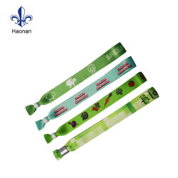 Create Your Own Fabric Wristband Festival Heat Tranfer Wristbands