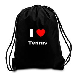Black Xiamen Factory Custom Tennis Sports Drawstring Bag