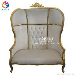 Wooden Bride And Groom Double King Throne Chair Love Seat