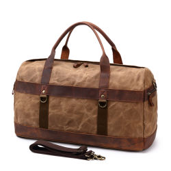 e7f6970f30 China Designer Wax Canvas Leather Sport Gym Duffle Bags Wholesale Outdoor Travelling  Weekend Bags
