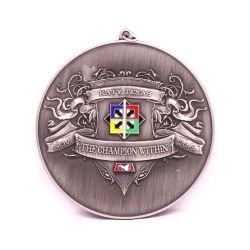 3D Die Casting Antique Silver Medallion Mounting Presentation Box Plane