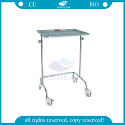 AG-Ss029A with One Tray Stainless Steel Surgical Instrument Mayo Cart