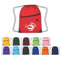 Company Logo Progress Sports Drawstring Pack