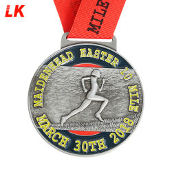 Wholesale Supplier Factory Promotion Gift Price Metal Crafts Custom Designs Zinc Alloy Casting Gold Marathon Running Finisher Race Sport Award Medals Made China