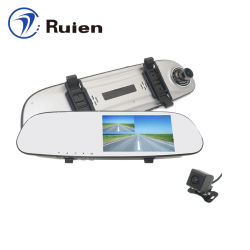Wholesale Price 5 Inch Touch Screen Rearview Mirror Car DVR Dash Camera with GPS Data