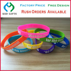 Personalized Sport Fashion Jewelry Giveaway Silicone Bracelets