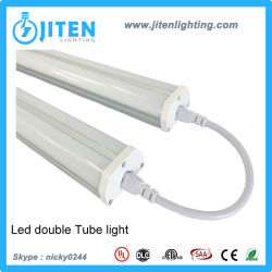 LED Tube Lights Fixture T5 Dual LED Light Tube 2400mm 60W with UL ETL Dlc Certificate