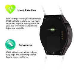 "Kw88 Reloj Inteligente 1.39"" 4GB Smart Watch Phone Smart Phone"